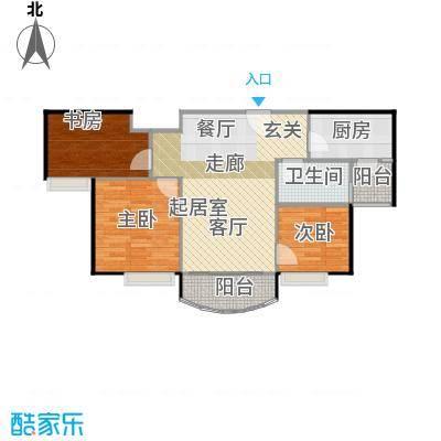 碧桂园生态城74.88㎡高层洋房J472户型3室2厅1卫