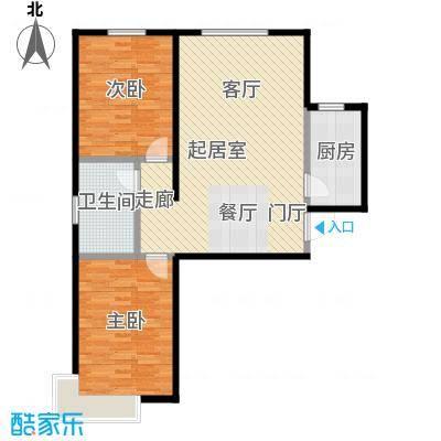 绿朗时光89.34㎡7号楼A1户型2室2厅1卫