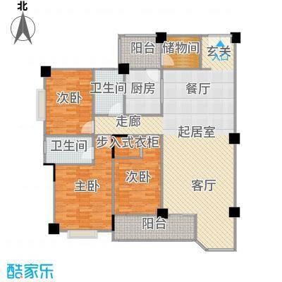 碧水晴天(三期)160.00㎡房型: 四房; 面积段: 160 -190 平方米;户型