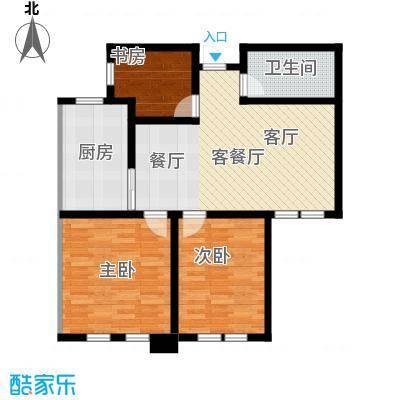东发现代城户型3室1厅1卫1厨