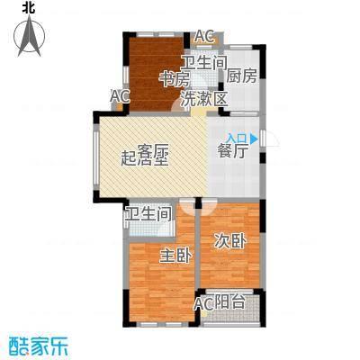 嘉城南都苑124.00㎡G-3-3户型3室2厅2卫
