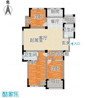 嘉城南都苑140.00㎡G-2-1户型3室2厅2卫
