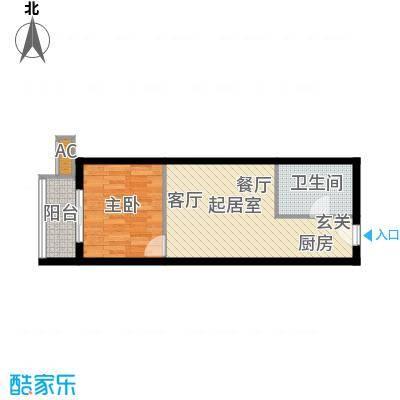一等海户型图户型1室2厅1卫QQ