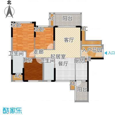建大领秀城99.00㎡2栋01单元户型图户型3室2厅2卫