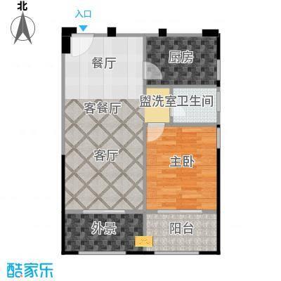 中誉南岸公馆53.49㎡户型10室