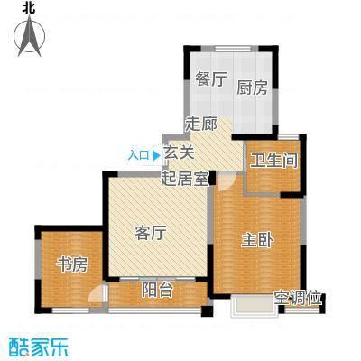 渤海之星87.26㎡户型图户型2室2厅1卫