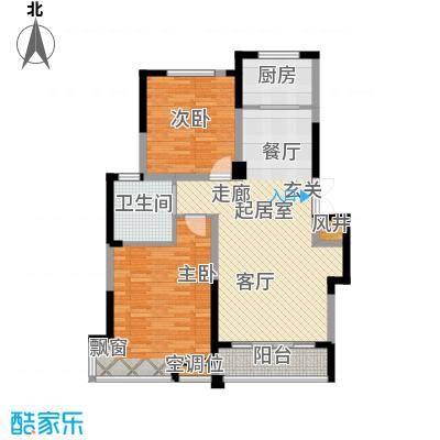 渤海之星95.63㎡户型图户型2室2厅1卫