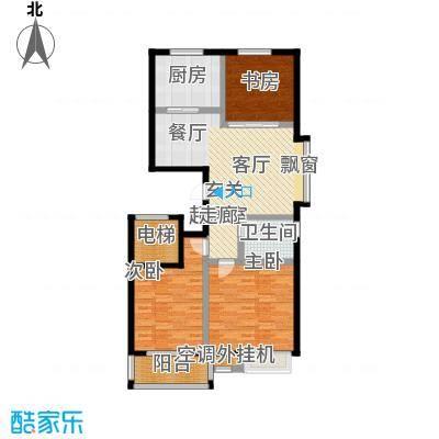 中富阳光景苑1号楼1.4户型110平户型
