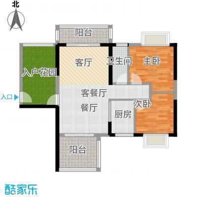 花香四季雅苑87.79㎡87.79平米两房两厅一卫户型2室2厅1卫