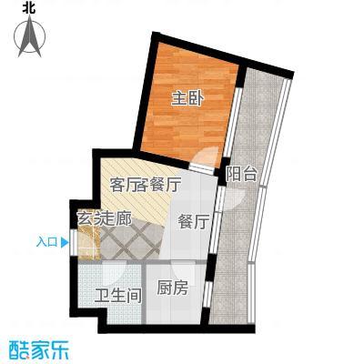 海天翼D&G户型约53.31-53.48平米一室一厅一厨一卫 53.31平米户型1室1厅1卫