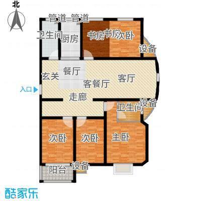 逸景和公馆163.73㎡B2 四室两厅两卫户型4室2厅2卫