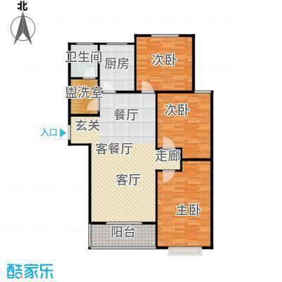 向阳雅园119.00㎡三室二厅一卫户型3室2厅1卫