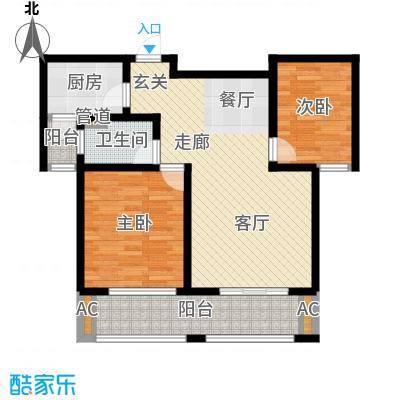 湘银纳帕溪谷自在从容三室两厅两卫户型3室2厅2卫