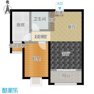 海韵馨园一室两厅一卫户型