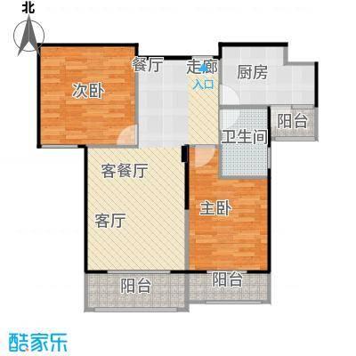 汉武国际城94.00㎡D、F户型 2室2厅1卫户型2室2厅1卫