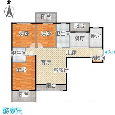 汉武国际城134.00㎡C户型 3室2厅2卫户型3室2厅2卫