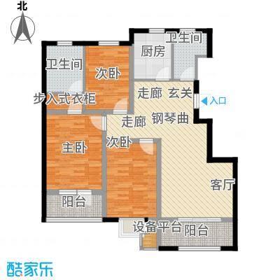 通泰观海首府三室两厅户型