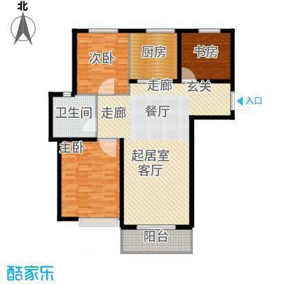 圣博・未来城118㎡三室二厅一卫户型
