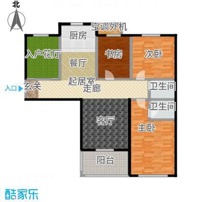 海韵馨园户型3室2卫