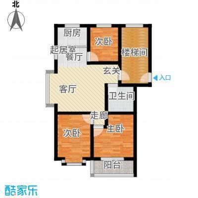 温阳海港城83.80㎡二期A户型3室2厅1卫