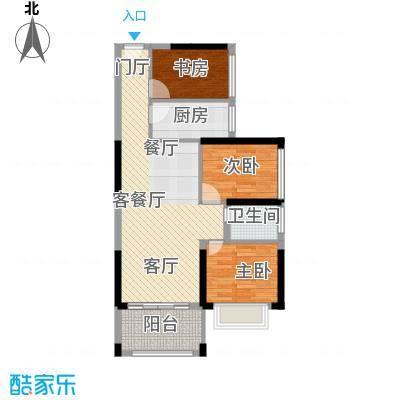 中央御园建筑面积:81.67㎡,赠送面积11.13㎡,拓展面积约:92.80㎡户型3室2厅1卫