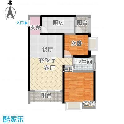 乐山时代大厦户型2室1厅1卫1厨