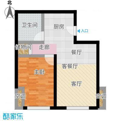幸福公馆73.35㎡A户型一室一厅户型1室1厅1卫