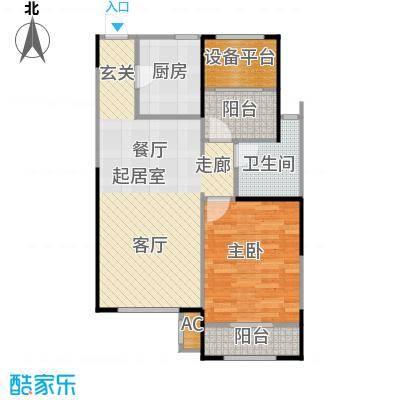 华都・襄湾壹号两室两厅一卫户型2室2厅1卫