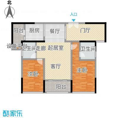 君华硅谷105.00㎡69、70栋03户型2室2厅2卫