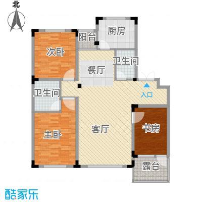 葫芦岛龙湾壹品110.67㎡户型3室2厅2卫