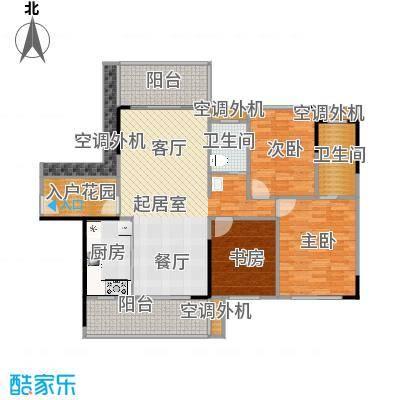 建大领秀城117.00㎡3栋02单元/4栋01户型图户型3室2厅2卫