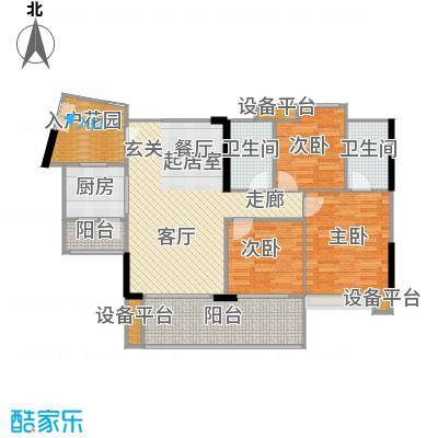 富力现代广场100.60㎡A1栋6二至二十八层平面-户型3室2厅1卫
