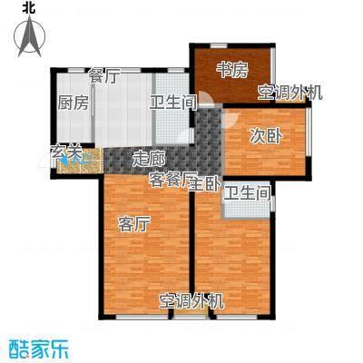 乾瑞嘉山墅高层 唯美格调 137.80㎡户型3室2厅2卫