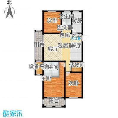 滨城美院D1三房三厅二卫134.05平米户型3室3厅2卫