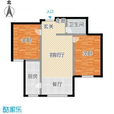 特变水木融城四期户型2室1厅1卫1厨