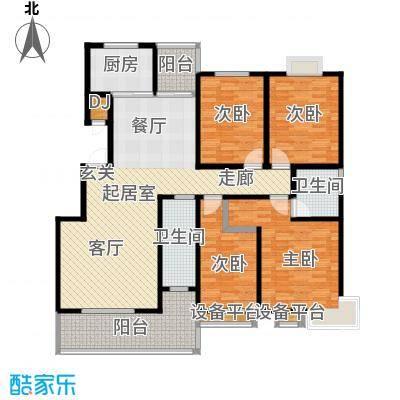 四季花城155.40㎡D2户型155.4户型4室2厅2卫