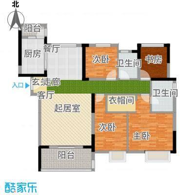 南山柠檬城144.00㎡D户型 3房2厅2卫户型4室2厅2卫