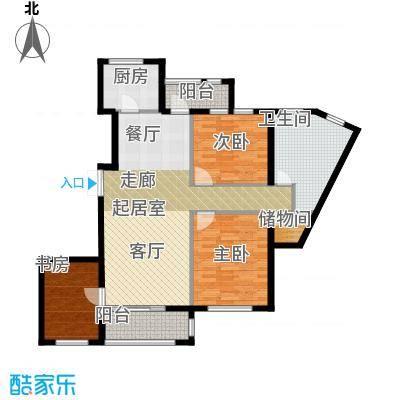 河海龙湾120.00㎡户型图户型3室2厅1卫