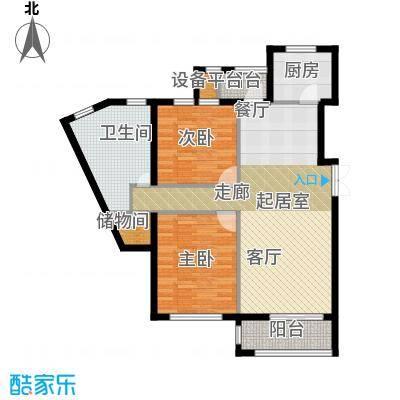 河海龙湾108.00㎡户型图户型2室2厅1卫