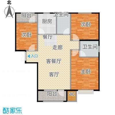 山海听涛户型3室1厅2卫1厨