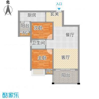 祥龙・城市花园户型2室1厅1卫1厨