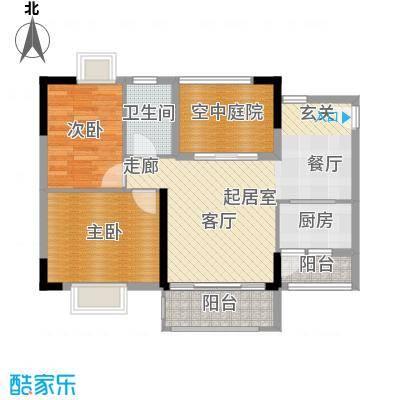 香海湾85.47㎡3栋06户型2室2厅1卫户型2室2厅1卫