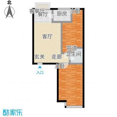 滨河城―左岸92.41㎡M户型2室2厅1卫