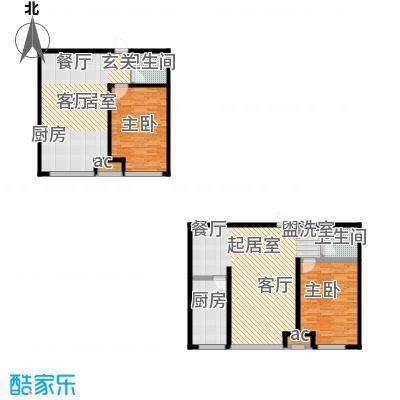 龙港花园58.00㎡户型1室2厅1卫