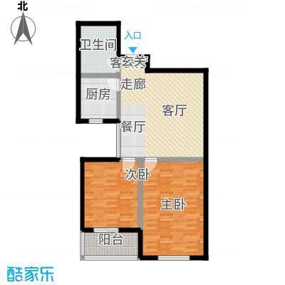 滨河城―左岸89.17㎡J户型2室2厅1卫