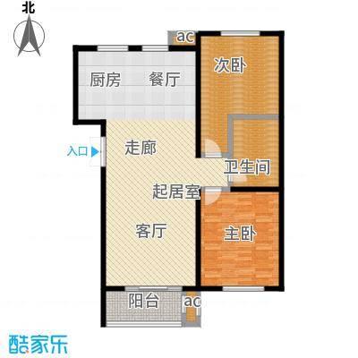 龙港花园114.00㎡户型2室2厅1卫