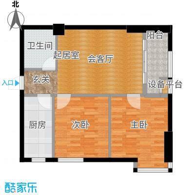 金色港湾85.15㎡三号楼/8号楼标准间户型2室1厅1卫