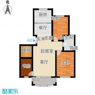 昌宇星河湾105.39㎡M户型3室2厅2卫