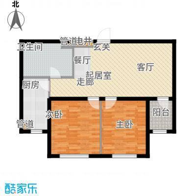 昌宇星河湾81.28㎡N户型2室1厅1卫