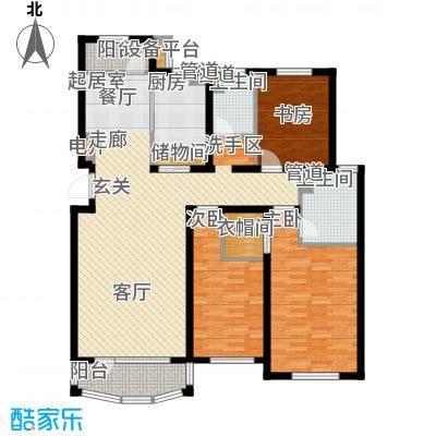 昌宇星河湾138.47㎡E户型3室2厅2卫